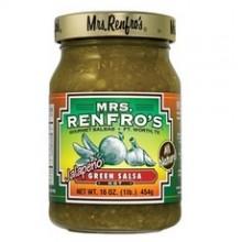 Mrs. Renfro's Green Hot JalapeÐo Salsa (6x16Oz)
