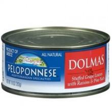 Peloponnese Stuffed Grape Leaves With Raisins & Pine Nuts, Dolmass (6x10Oz)