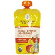 Peter Rabbit Organics Mango, Banana And Orange (10x4Oz)