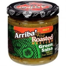 Arriba! Fire Roasted Green SalsaMedium (6x16Oz)