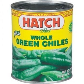 Hatch Mild Whole Green Chiles (12x4Oz)
