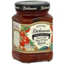 Dickinson Premium Sweet And Hot Pepper Onion Relish (6x8.75Oz)