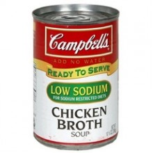 Campbell's Low Sodium Chicken Broth  (12x10.5Oz)