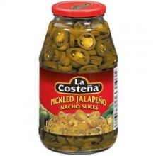 La Costena Pickled Jalapeno Nacho Slices (12x12Oz)