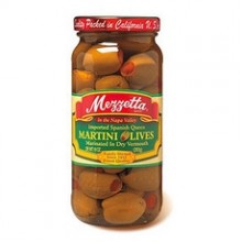 Mezzetta Spanish Queen Martini Olives Marinated Dry Vermouth (6x10Oz)