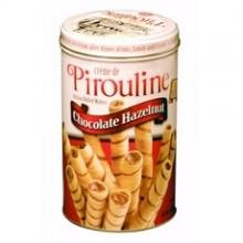 De Beukelaer Chocolate Hazelnut Pirouline Rolled Wafers (6x14Oz)