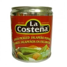 La Costena Green Pickled Sliced Jalapeno Peppers  (24x7Oz)