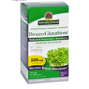 Natures Answer Brocco Glutathione 60 Vege Capsules