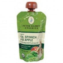 Peter Rabbit Organics Pea, Spinach & Apple Snack (10x4.4 Oz)