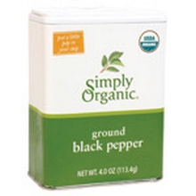 Simply Organic Ground Black Pepper Tin (6x4 Oz)