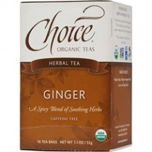 Choice Organic Teas Ginger Herb Tea (6x16 Bag)