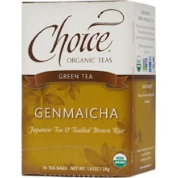 Choice Organic Teas Genmaicha Green with Toasted Brown Rice (6x16 Bag)