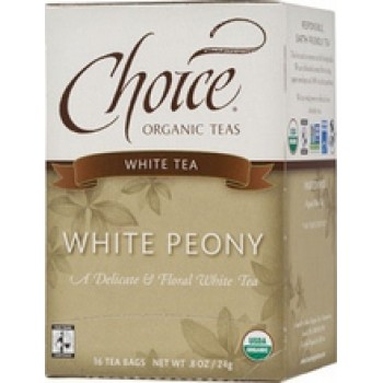 Choice Organic Teas White Peony (6x16 Bag)