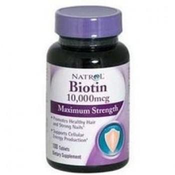 Natrol Max Strengt Biotin, 10000mg (100 TAB)
