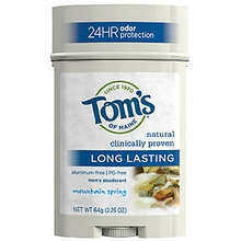 Tom's Of Maine Long Lasting Stick Mountain Spring Scent (6x2.25 Oz)