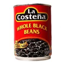 La Costena Whole Black Beans (12x19.75 Oz)