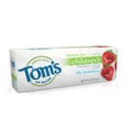 Tom's Of Maine Silly Strawberry, Fluoride Free Kids Toothpaste (6x4.2 Oz)