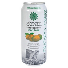 Steaz ZERO Calorie Peach Mango Iced Tea (12x16 Oz)
